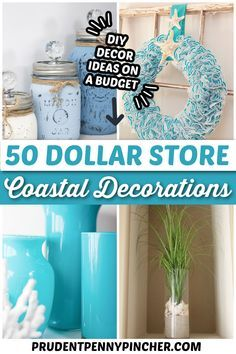 Add a beach vibe to your home with these coastal DIY home decor ideas. From seashell wall art to DIY sea glass, there are plenty of beach house decor ideas to choose from. There are DIY beach house decor ideas for your living room, bedroom, bathroom, dining room, porch and much more that you can make with dollar tree supplies. Beach Theme Bathroom, Diy Bathroom Decor, Small Bathroom, Budget Bathroom, Beachy Bathroom Ideas, Seashell Bathroom Decor, Beach Bathrooms, Seashell Art, Bathroom Organization