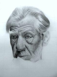 W.I.P Ian mckellen Pencil