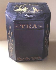 Antique tea tin - lovely