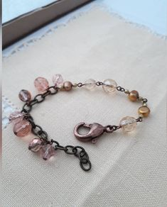 Vintage Bracelet, Shades, Etsy Shop, Trending Outfits, Rose, Unique Jewelry, Bracelets, Handmade Gifts, Check