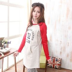 0ff785712 Casual Contrast Color Long Sleeve maternity breastfeeding nursing top  sweater