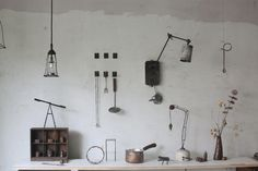 kitchen works for when I move into my Japanese dream cottage (with Totoro and inspector gadget) Takamasa Sekita Workspace Inspiration, Life Inspiration, Kitchen Words, My Workspace, Store Interiors, Old Tools, Color Stories, Small Living, Lovers Art
