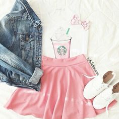 Image via We Heart It #cute #dating #fashion #outfit #pink #summer #starbooks