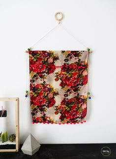 How to turn any scarf into wall art