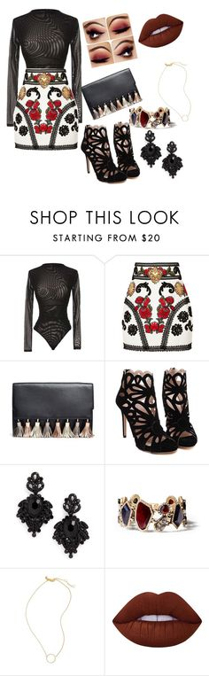 """""""lck"""" by suellenbrunetto5 ❤ liked on Polyvore featuring Dolce&Gabbana, Rebecca Minkoff, Tasha, Chloe + Isabel, Madewell and Lime Crime"""