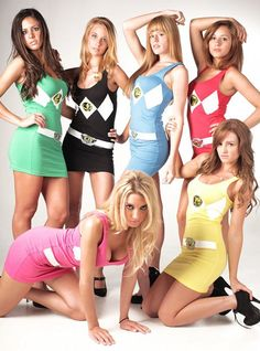 power ranger dresses! XD I want this for halloween