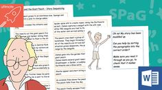 Editable James and the Giant Peach - Story Sequencing This resource is a fully editable document, that allows you to edit the text if needed. You could also allow the children to sort and sequence the sentences on the computer if you wish, using microsoft word - to encourage drag and drop skills or cut and paste skills. To check out all our other a... - www.tpet.co.uk - Classroom Resources by Teacher's Pet Comprehension Ks2, Story Sequencing, The Giant Peach, Teacher's Pet, Tag People, Classroom Displays, Roald Dahl, Classroom Resources, Microsoft Word
