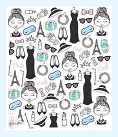 Audrey Hepburn #illustration #fashion #paris #pretty