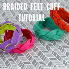 Braided Felt Cuff Tutorial - Betz White