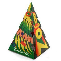 Carluccio's Chocolate Christmas tree - Designed by Lucia Gaggiotti Christmas Tree Design, Christmas Chocolate, Xmas, Packaging, Graphics, Graphic Design, Illustration, Outdoor Decor, Inspiration