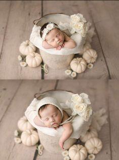 Newborn in Bucket Pose - Organic Newborn Photography - Vintage Inspired Newborn Session - Newborn Photos - Newborn Photographer - Newborn Art - Baby Photographer - Baby Photography - Newborn Portraits.
