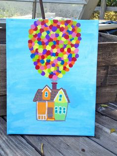 Disney Pixar Up Painting by ThinkGoodThoughtss on Etsy, $30.00