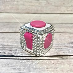 Bling fidget toy crystal spinning toy bling finger cube toy