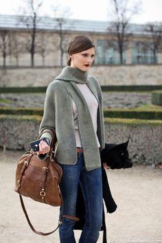 Outside Guy Laroche at Paris Fashion Week pfw