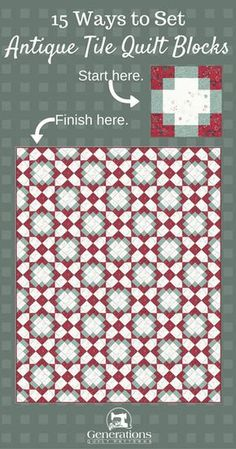 Edredão de telha antiga: 15 layouts. De simples para Stunning!
