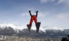 February United States' Ben Loomis soars through the air during training for the Nordic Combined at the Nordic ski World Championships in Innsbruck, Austria. Central And Eastern Europe, Central Asia, Female Gorilla, Nordic Combined, Voice Of America, French President, Old Ones, World Championship, The Guardian