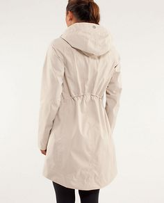 lululemon rain coat. can't decide  between cashew or black..guess I just need both?