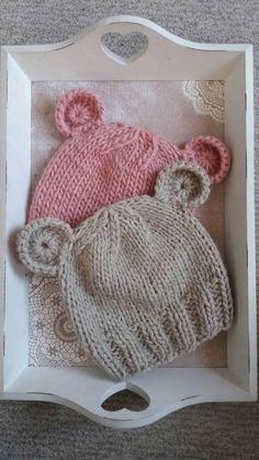 Der Neuen Stricken : Baby Bear Hat Pattern, Baby Hat Pattern, Baby Knit Hat Pattern, Easy Knitting Pattern, Pattern for Beginners Knit Hat Pattern Easy, Baby Hat Knitting Patterns Free, Baby Boy Knitting, Baby Hat Patterns, Kids Knitting, Beanie Babies, Baby Girl Hats, Baby Beanies, Newborn Knit Hat