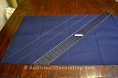 CONTINUOUS BIAS FOR WELTING/PIPING - best method How to cut continuous bias for welt cord