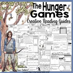 The Hunger Games Reading Guides - Creative! Hunger Games Activities, Learning Activities, Teaching Resources, Teaching Ideas, Teaching American Literature, British Literature, Teaching High Schools, Hunger Games Novel, Nonfiction Text Features