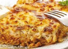 Egyptian Macaroni Béchamel - AC says no cinnamon, though. Childhood fav for me! Noddle Recipes, Ramen Recipes, Cookbook Recipes, Pasta Recipes, Cooking Recipes, Recipies, Dinner Recipes, Lasagna Casserole, Casserole Recipes