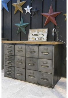 Unique Rustic Industrial File Cabinet