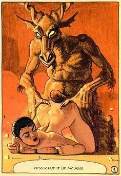Demon having sex with nuns