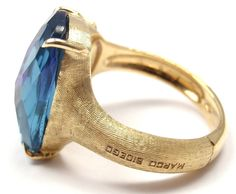 Marco Bicego Murano London Blue Topaz Amethyst Gold Ring 4