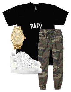 """Untitled #15"" by rosymamii on Polyvore featuring TNA, NIKE and Michael Kors"