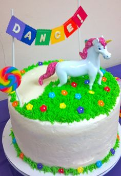 Rainbow (and Unicorn) Cake I would have loved this cake as a kid!!! It still makes me smile!