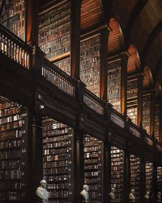 The long room of the Old Library at Trinity College 📜 Beautiful Library, Dream Library, Deco Dyi, Natur Wallpaper, College Aesthetic, Old Libraries, Brown Aesthetic, Chiaroscuro, Aesthetic Pictures