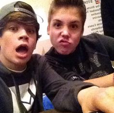 Hayes Grier and Matthew Espinosa <3 two of my favs!!!! Especially hayyyyyyes!!! @Annie Stephens @Hayden Martin @Piper F. @Everyone else saw my obsession in words