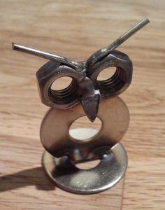Metal Art Projects, Metal Crafts, Horseshoe Art, Scrap Metal Art, Yard Art, Pet Birds, Metals, Washer Necklace, Projects To Try