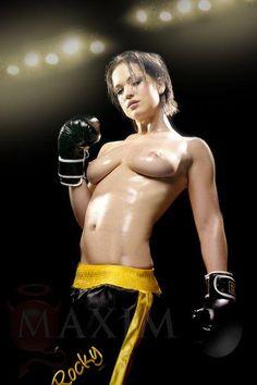 boxing Naked girls