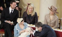 Prince Haakon of Norway, Princess Mette-Marit of Norway and Crown Princess Victoria of Sweden are godparents to Prince Christian of Denmark