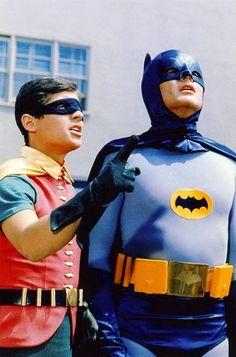 "Jan. 13, 1966. Adam West and Burt Ward star in the premiere of ""Batman"" on ABC-TV."