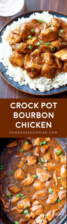 "Crock Pot Bourbon Chicken! A ""base"" recipe for bourbon chicken made right in your crock pot. Many flavors make up the dish, and you can easily adjust the amounts to suit your taste!"