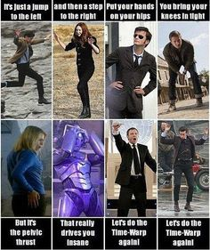Doctor Who does the Time Warp.