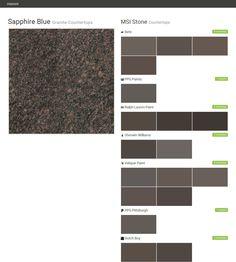 Sapphire Blue. Granite Countertops. Countertops. MSI Stone. Behr. PPG  Paints.