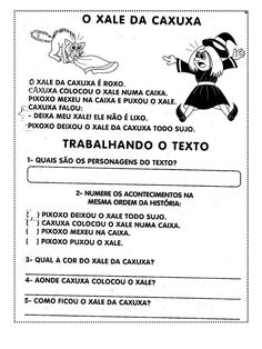 TEXTOS CURTOS COM INTERPRETAÇÃO 1º ANO FUNDAMENTAL Portuguese Language, Too Cool For School, School Kids, Education, Josh Hutcherson, Halloween, Poetry Activities, Writing Activities, Reading Activities