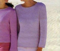 Questo lavoro a maglia è proprio l'ideale da indossare nelle prime giornate di primavera: una maglia con sprone a punto coste semplice, facile da lavorare per chi è pratica di lavori ai ferri.