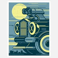 Hot Ride 18x24 by Kronk, $32, now featured on Fab.