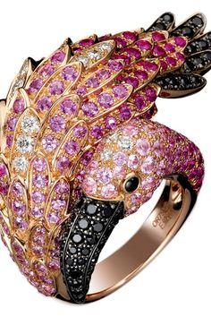 mULTI COLOR DIAMOND &GOLD RING