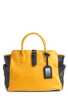 (13. The perfect ModCloth carryall)  Summer Squash Travel Bag  Going with my love for bold accessories this bag is everything, big enough to hold it all and still cute. I absolutely love the color and the little details like the buckle!. Gorgeous gorgeous  #modcloth #makeitwork