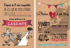 invitaciones personalizadas diseño desing original wedding beach boda en la playa simple love happy novia novio DIY