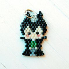Beaded Character Charm - Mistress of Evil, Seed Bead Bead Weaving, Brick Stitch, Bead Stitch