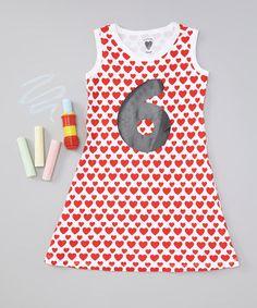 Loving this Red Heart Age 6 Chalkboard Dress - Girls on #zulily! #zulilyfinds