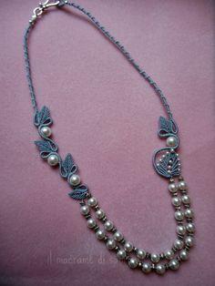 il macramè di sabrina: Tre collane di artistica ispirazione
