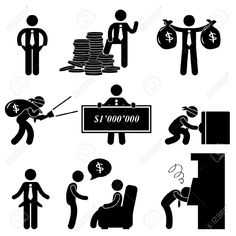 Rich Poor Success Failure Desperate Businessman Icon Symbol Sign.. Royalty Free Cliparts, Vectors, And Stock Illustration. Pic 11965732.
