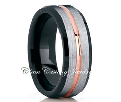 Our black tungsten wedding bands are crafted from the highest quality of materials which is why our rings offer a lifetime of stylishness with minimal upkeep. Black Tungsten Rings, Tungsten Wedding Rings, Wedding Rings Rose Gold, Wedding Ring Bands, Gold Ring, Wedding Men, Wedding Ideas, Rustic Wedding, Wedding Things